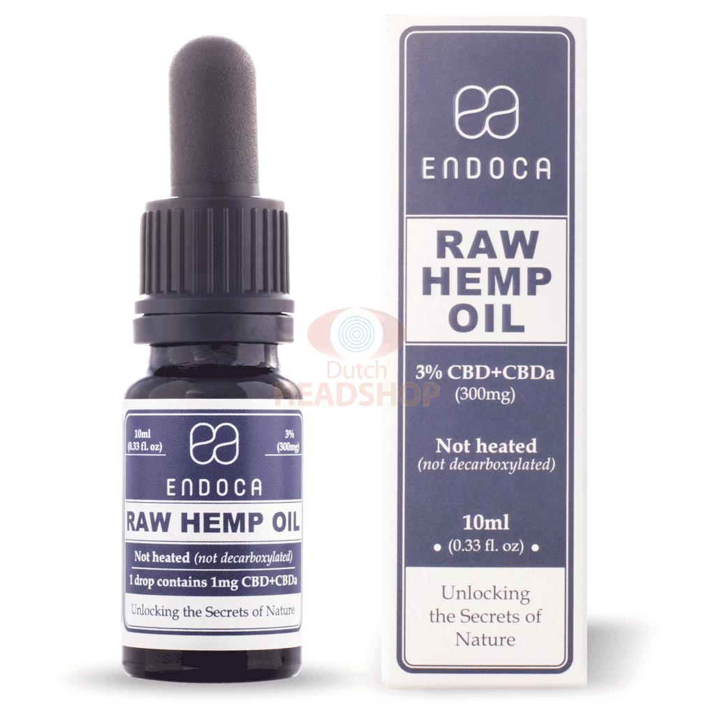 Buy CBD Oil Raw (Endoca) 3% 300mg 10ml