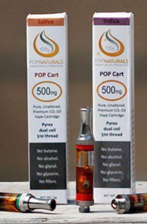 POP Naturals Cannabis Oil Cartridges Sydney