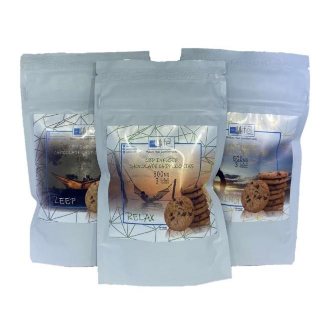 CBD 4 Life Chocolate Chip Cookies AU