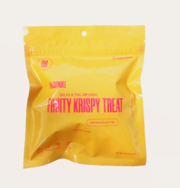 Delta 8 THC Infused Fruity Krispy Treat