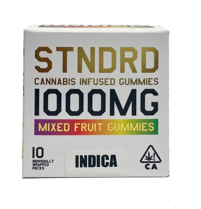 STNDRD Perth Cannabis Infused Mixed Fruit Gummies