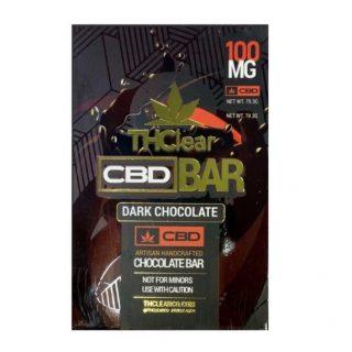 THClear CBD Dark Chocolate Bar 100mg CBD